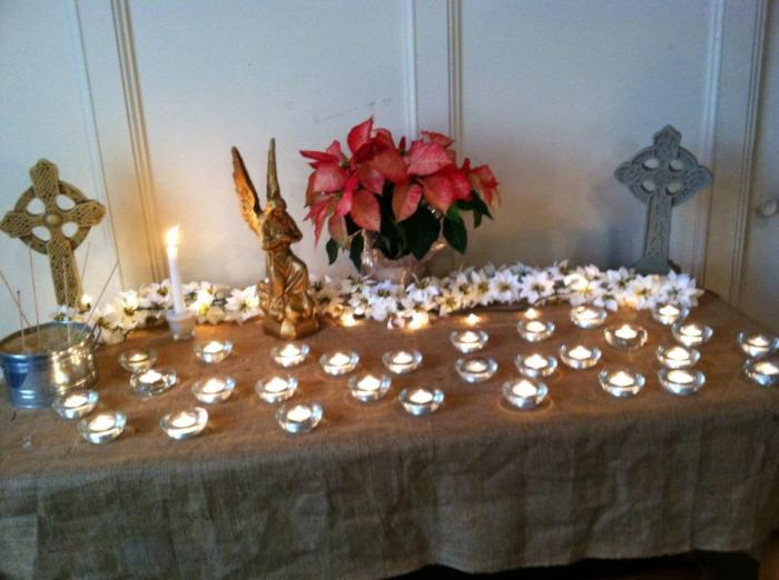 29 candles lit for the 28 deaths and 1 wounded in Newtown, CT