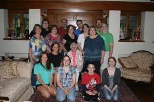 The whole crew with Mom. July 2013