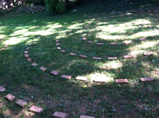 Our backyard labyrinth!