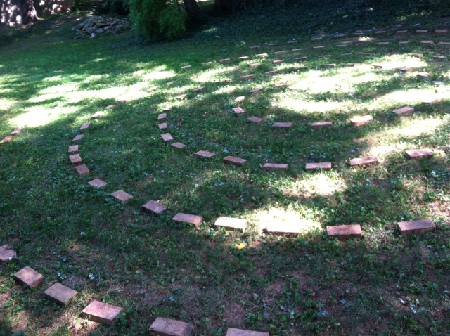Our backyard labyrinth!