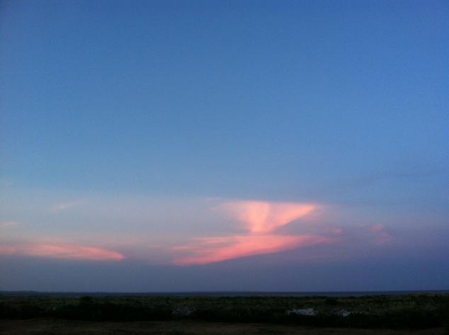 The last lingering light at sunset