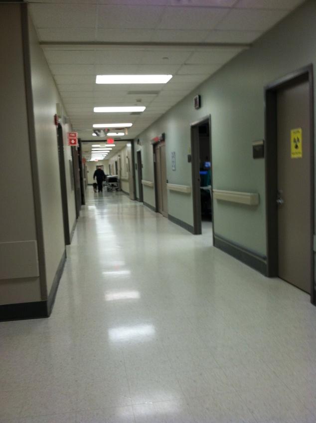 Heading to the Trauma Room.