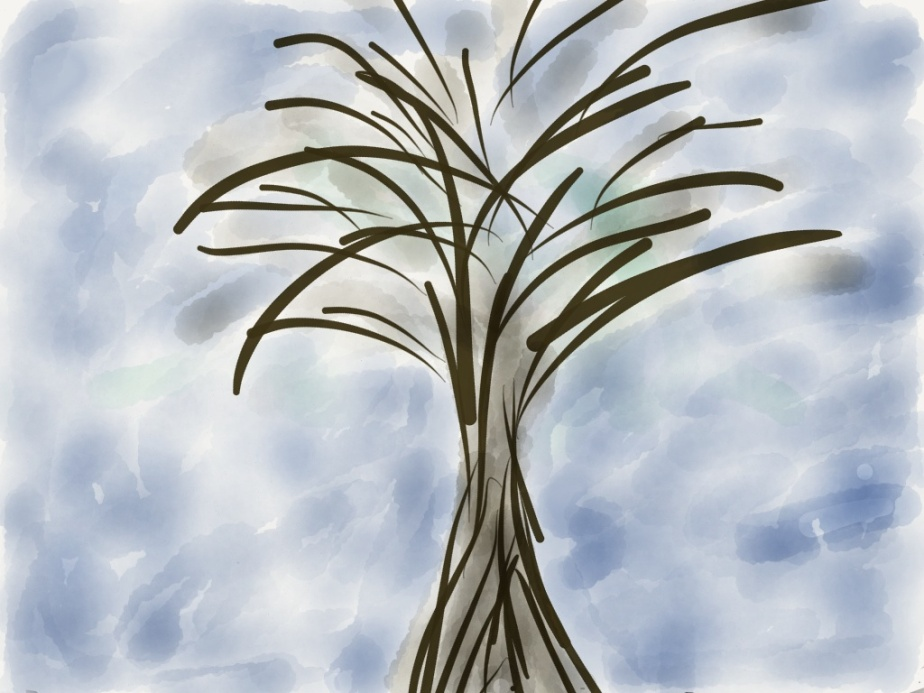 Tree in Winter. Made with Paper 53 app on my iPad.