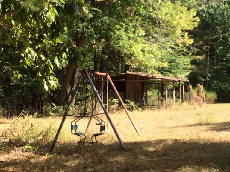 Abandoned swingset. Photo credit: Rev. Deb Vaughn