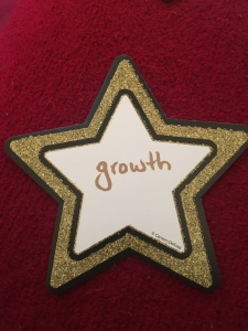 "A paper star with the word ""Growth"" on it."
