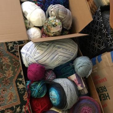 a box of yarn